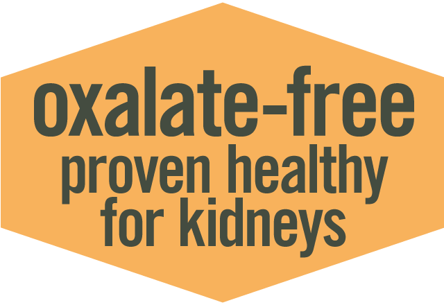 Oxalate-Free, Proven Healthy and Safe for Kidneys