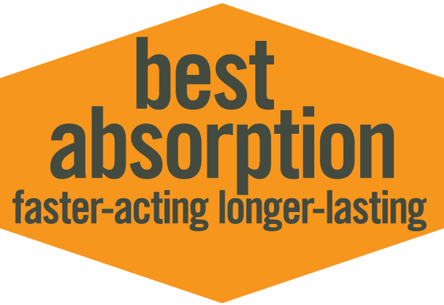 Best Absorption, Faster-Acting, Longer-Lasting