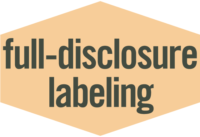 Full-Disclosure Label