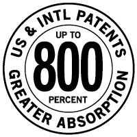 BioMor Curcumin is United States Patented for up to 800 percent Greater Absorption